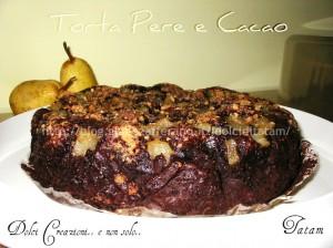 torta pere cacao
