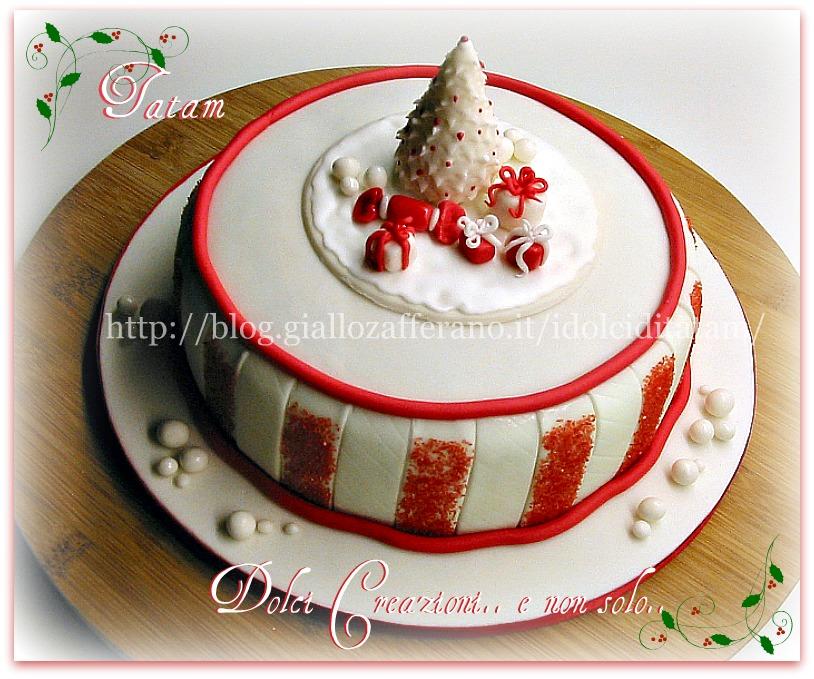 Galleria di natale 2012 creazioni in pasta di zucchero di - Torte natalizie decorate ...