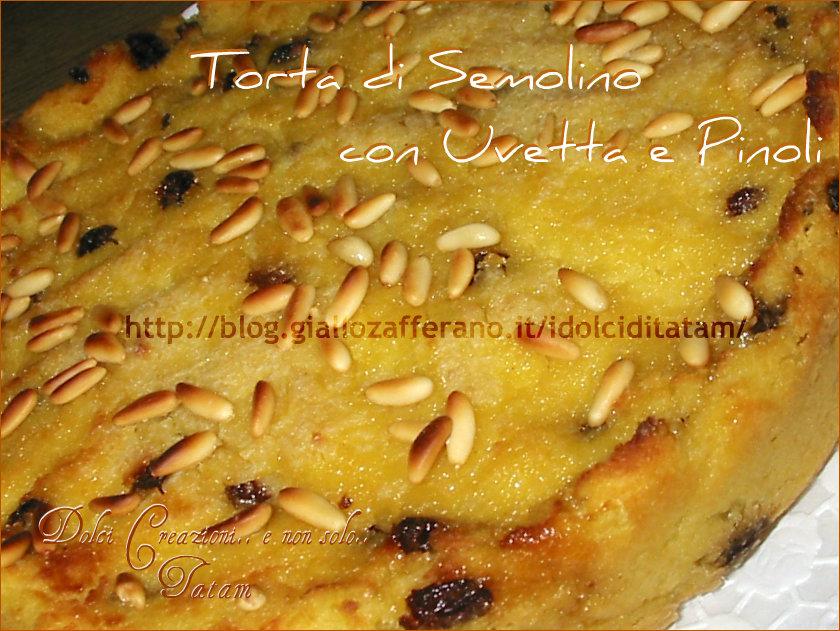 Torta di Semolino con Uvetta Sultanina e Pinoli
