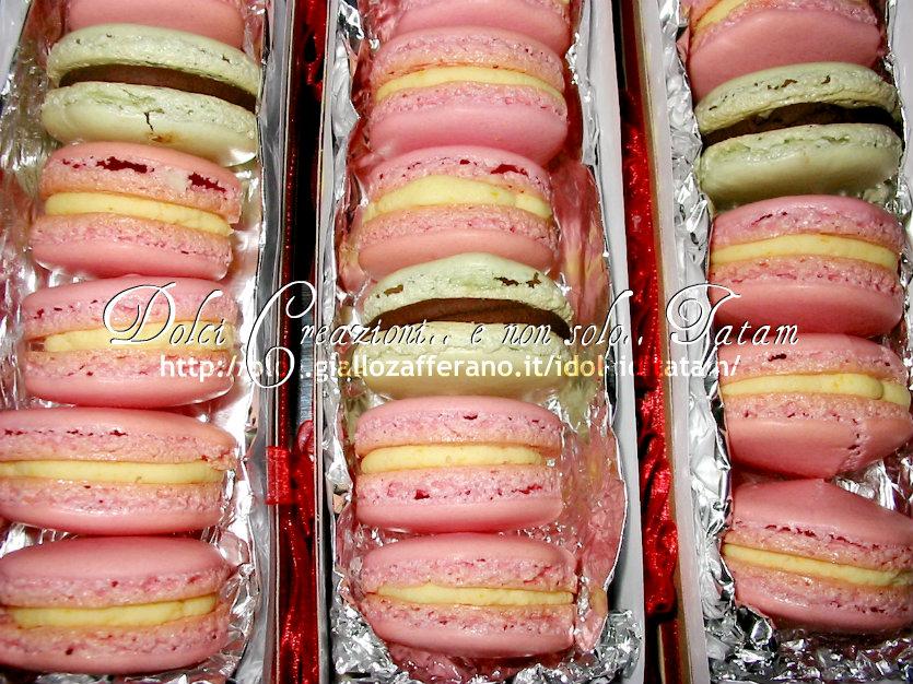 macaron ganache cioccolato bianco