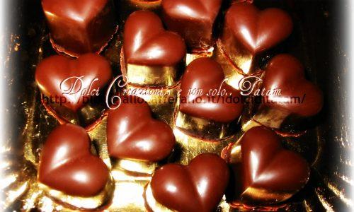 Cioccolatini ripieni alla arancia per San Valentino