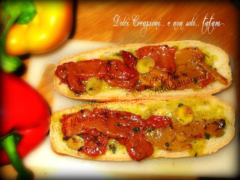 Bruschetta con peperoni grigliati