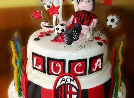 Torta Decorata per il piccolo tifoso del Milan