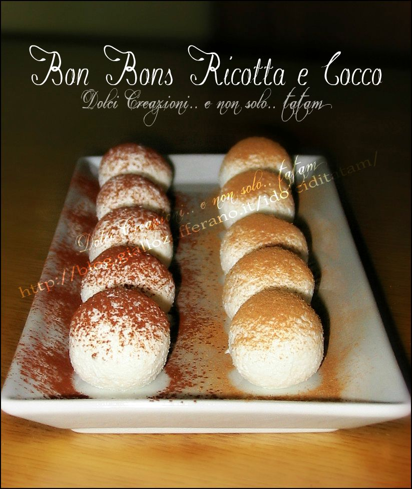 Bon Bons Ricotta e Cocco