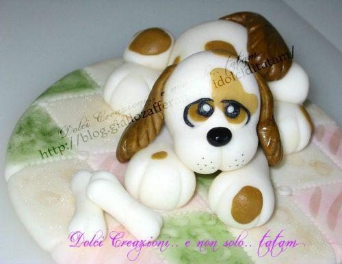 Cagnolino Cake Topper | pasta di zucchero