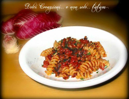 Pasta alla Amatriciana e Radicchio