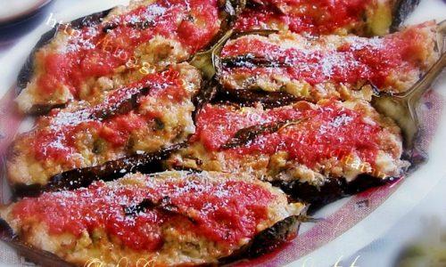 Melanzane Ripiene Salsiccia Asiago al Forno