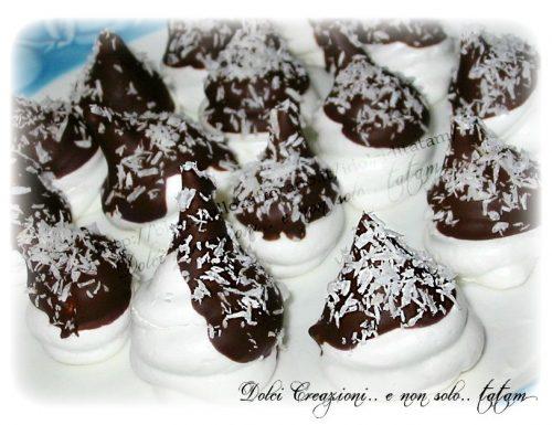 Meringhe Bounty cocco e cioccolato
