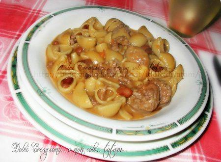 Pasta e Fagioli con Salsiccia