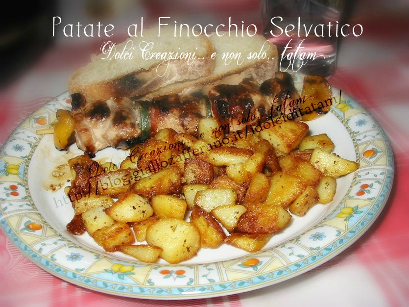 Patate croccanti in Padella ai Fiori di Finocchi Selvatico