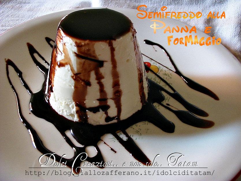 Semifreddo Panna e Formaggio Variegato al Cioccolato