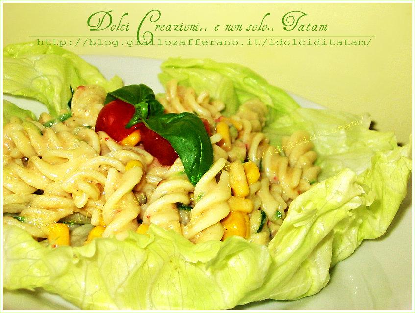 pasta fredda zucchine mais