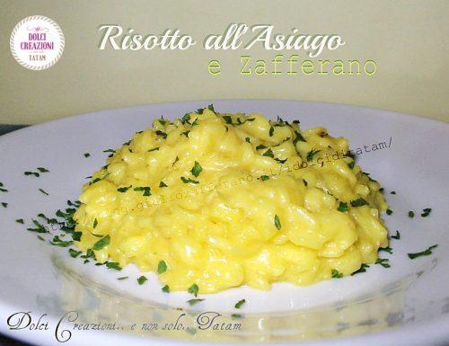 Risotto al formaggio Asiago e Zafferano