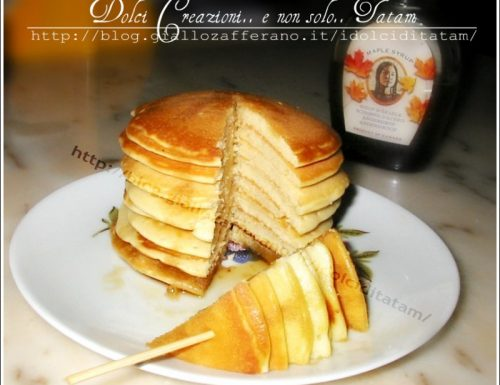 Spiedini di Pancakes allo sciroppo di Acero