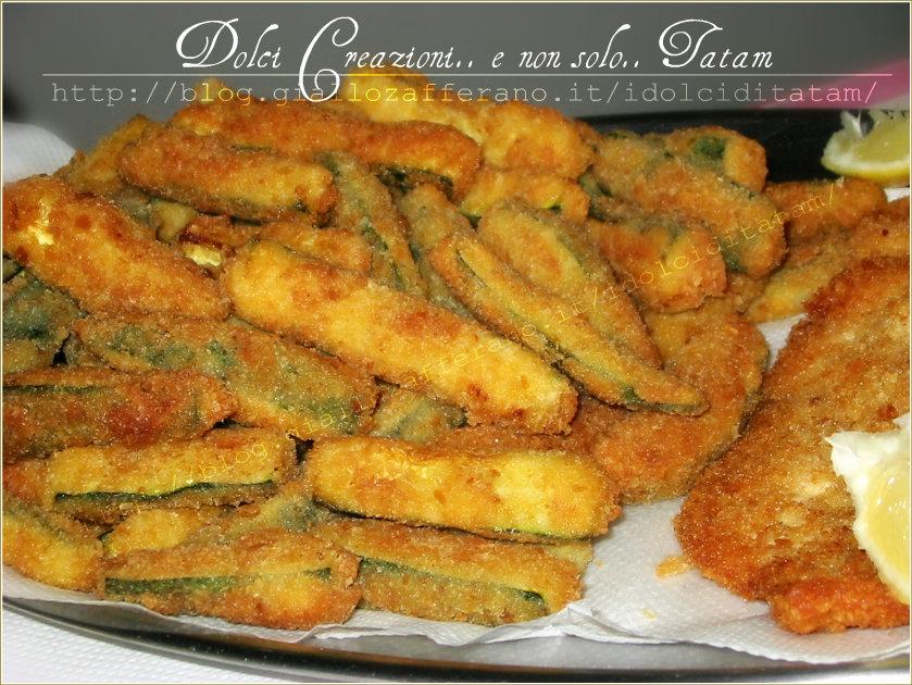 Zucchine Fritte a Bastoncini