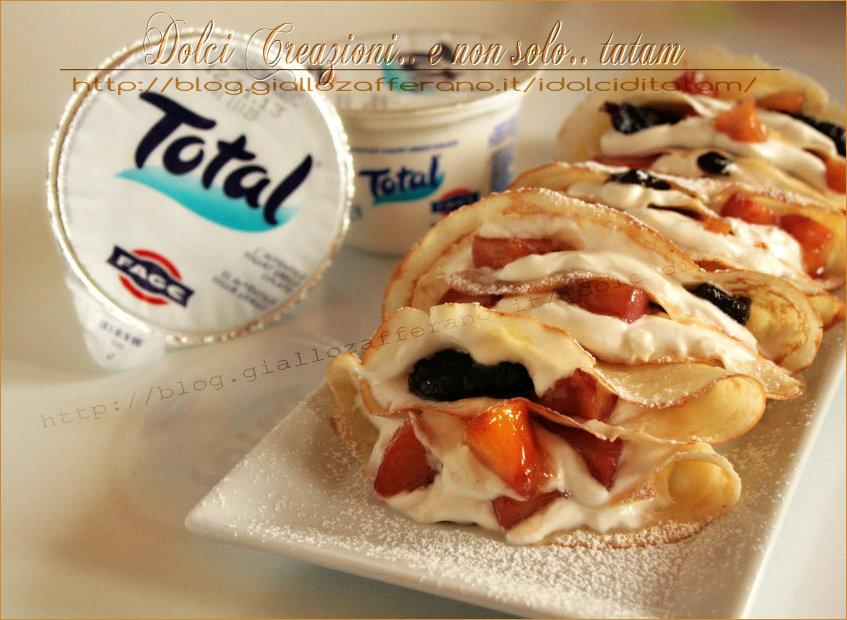 Crepes allo yogurt greco e frutta caramellata ricetta for Cucinare yogurt greco
