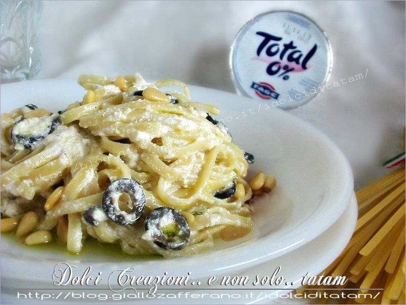 Amato Linguine alla salsa di yogurt greco e olive nere |ricetta primo piatto LI08