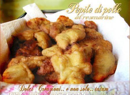 Pepite di pollo al rosmarino e limone