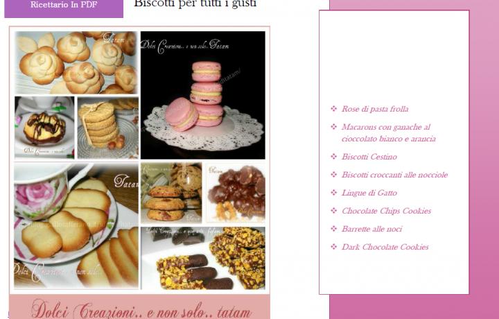 Ricettario gratuito in PDF Biscotti per tutti i gusti