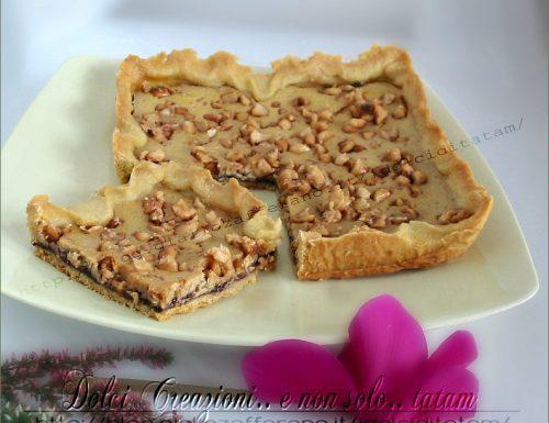 Crostata con crema al mascarpone e arachidi caramellate