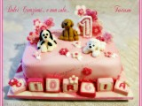torta decorata baby birthday cake