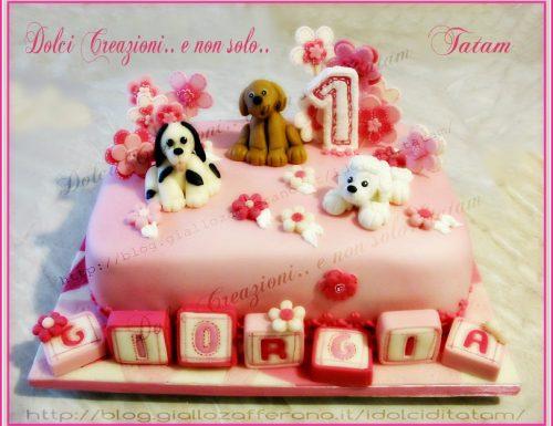 Torta decorata compleanno bimba