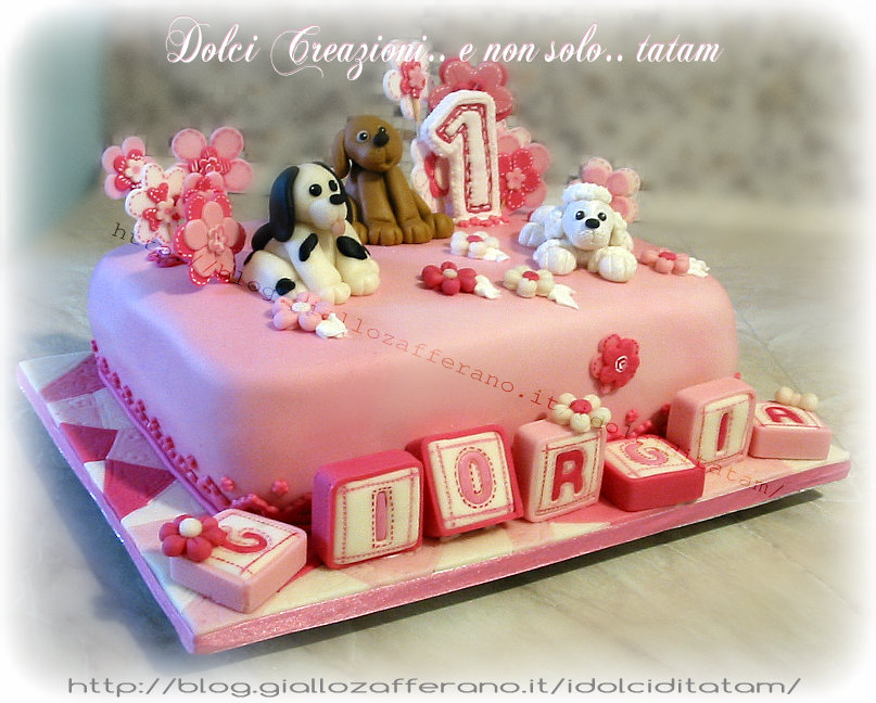 Assez Torta decorata compleanno bimba | pasta di zucchero | DC&N |tatam KK16