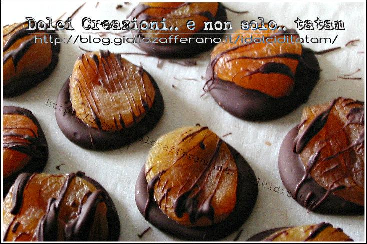 albicocche cioccolato