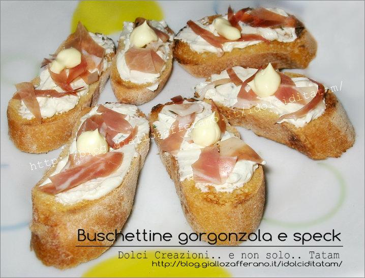 Buschette gorgonzola e speck