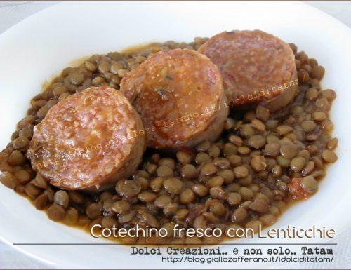 Cotechino fresco con lenticchie, come prepararlo senza fatica.