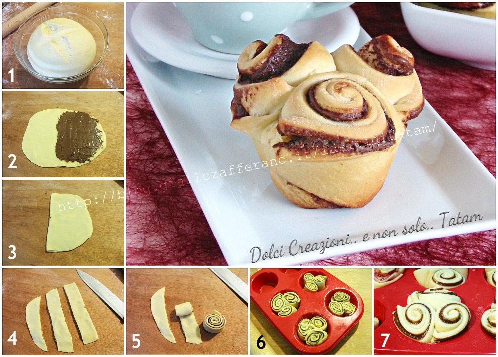 Rose di pan brioche alla nutella