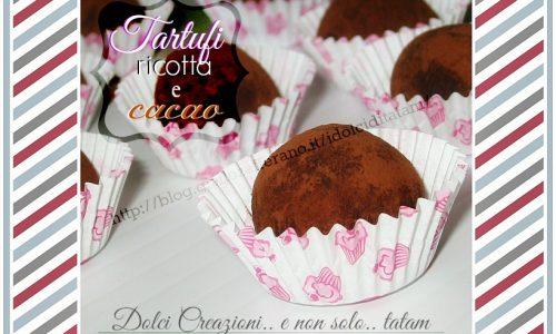 Tartufi di ricotta al cacao