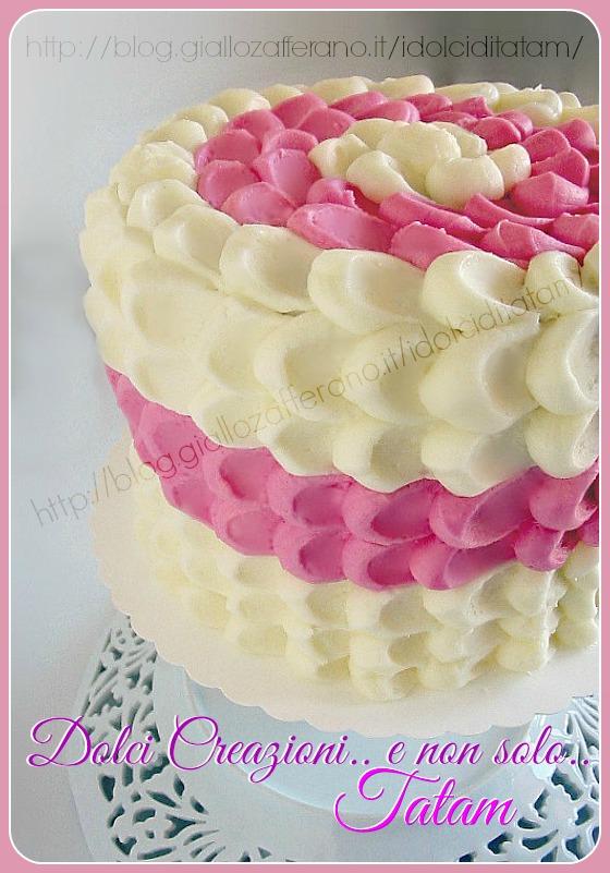 torta effetto petalo tutorial tecnica di decorazione torte