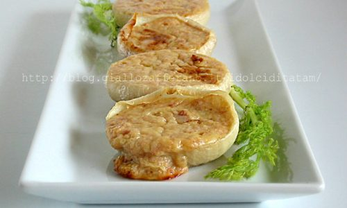 Cipolle al prosciutto gratinate in forno