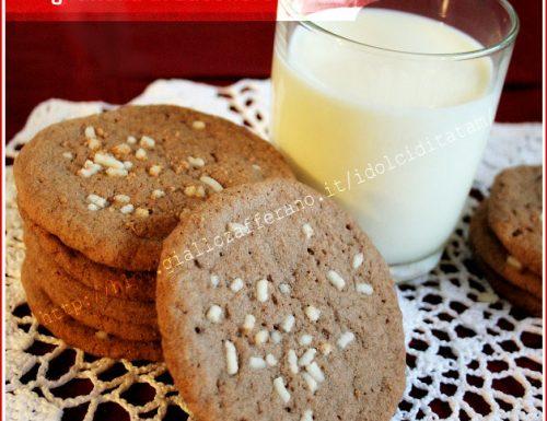 Biscotti Cialde al caffe' con granella di zucchero
