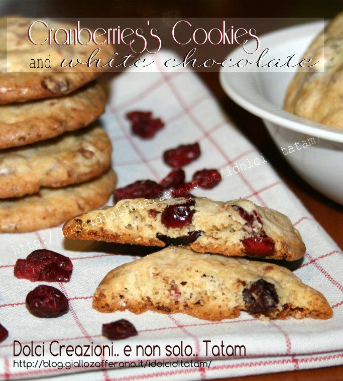 Biscotti con mirtilli rossi e cioccolato bianco