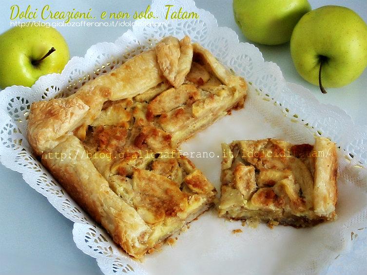 Crostata di sfoglia con mele