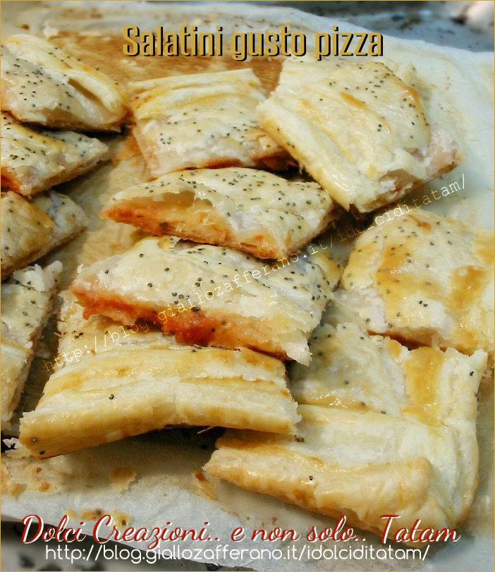Salatini rustici di pasta sfoglia gusto pizza