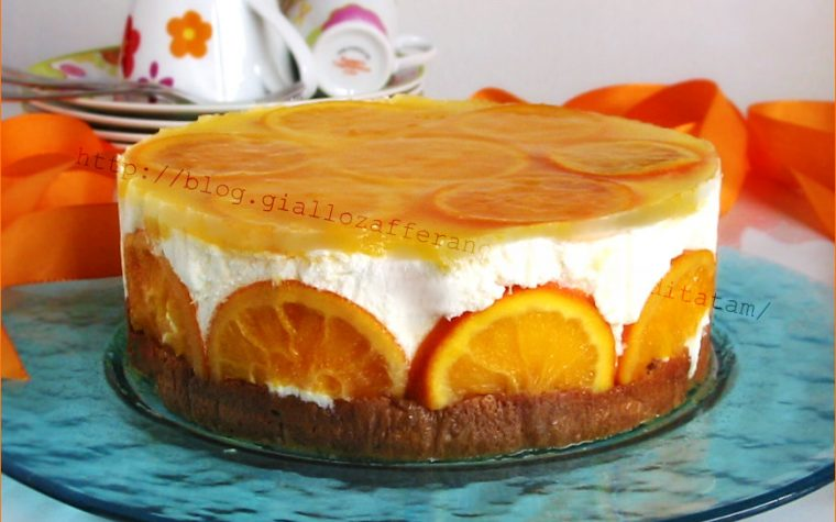 Torta fredda armonia di arance