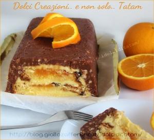 torta arancia cioccolato ganache