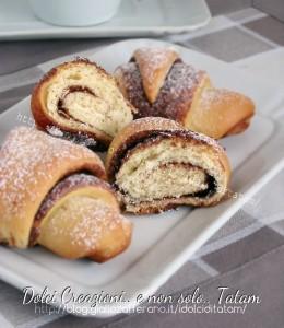 Cornetti di pan brioche alla nutella 1