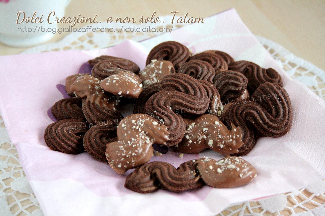 Biscotti viennesi al cioccolato