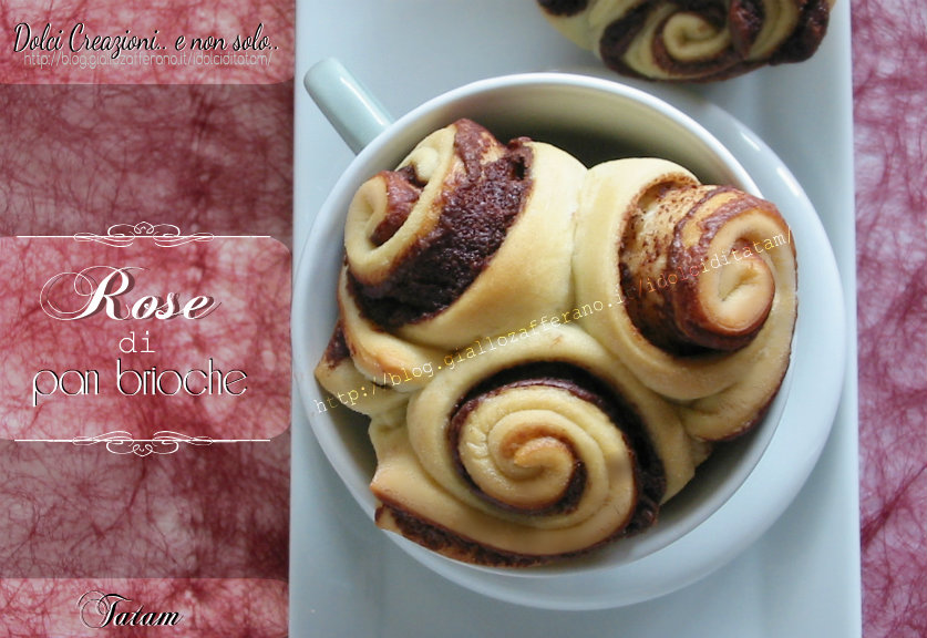 Rose di pan brioches alla nutella