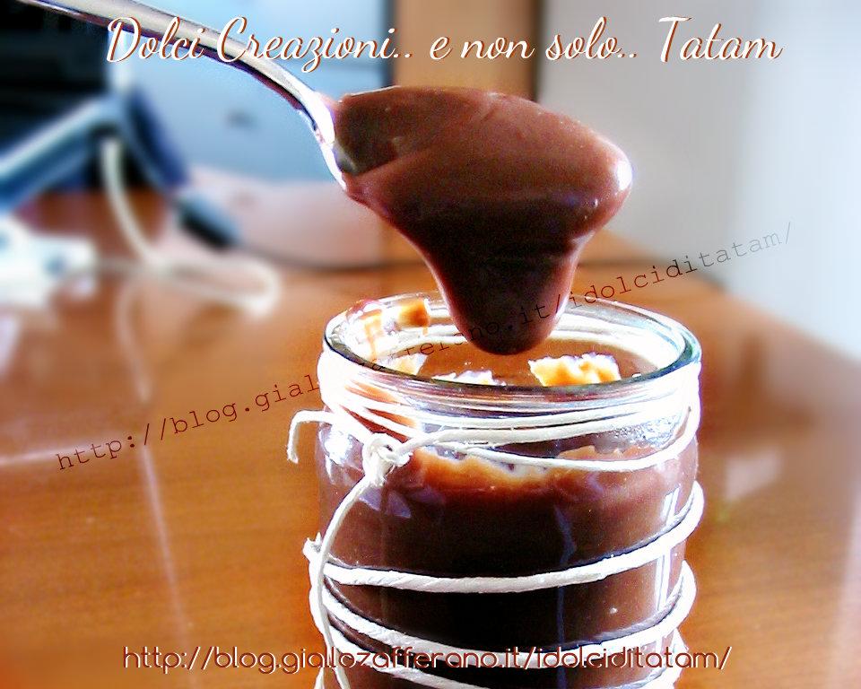 Crema caffe' al cacao senza uova