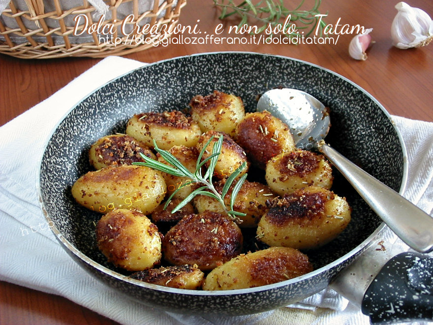 Patate gratinate in padella