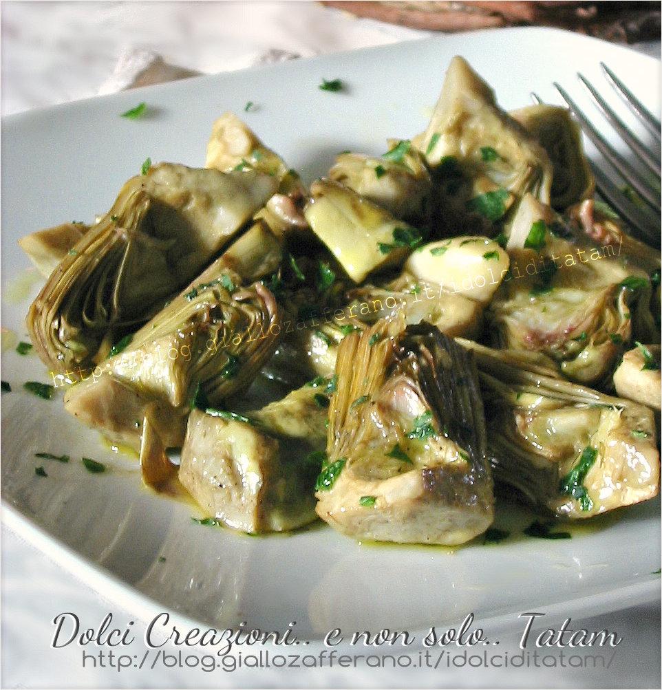 Carciofi In Padella Al Vino Bianco Ricetta Vegetariana Contorno