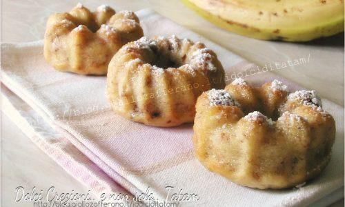 Tortine di banane nocciole e cioccolato