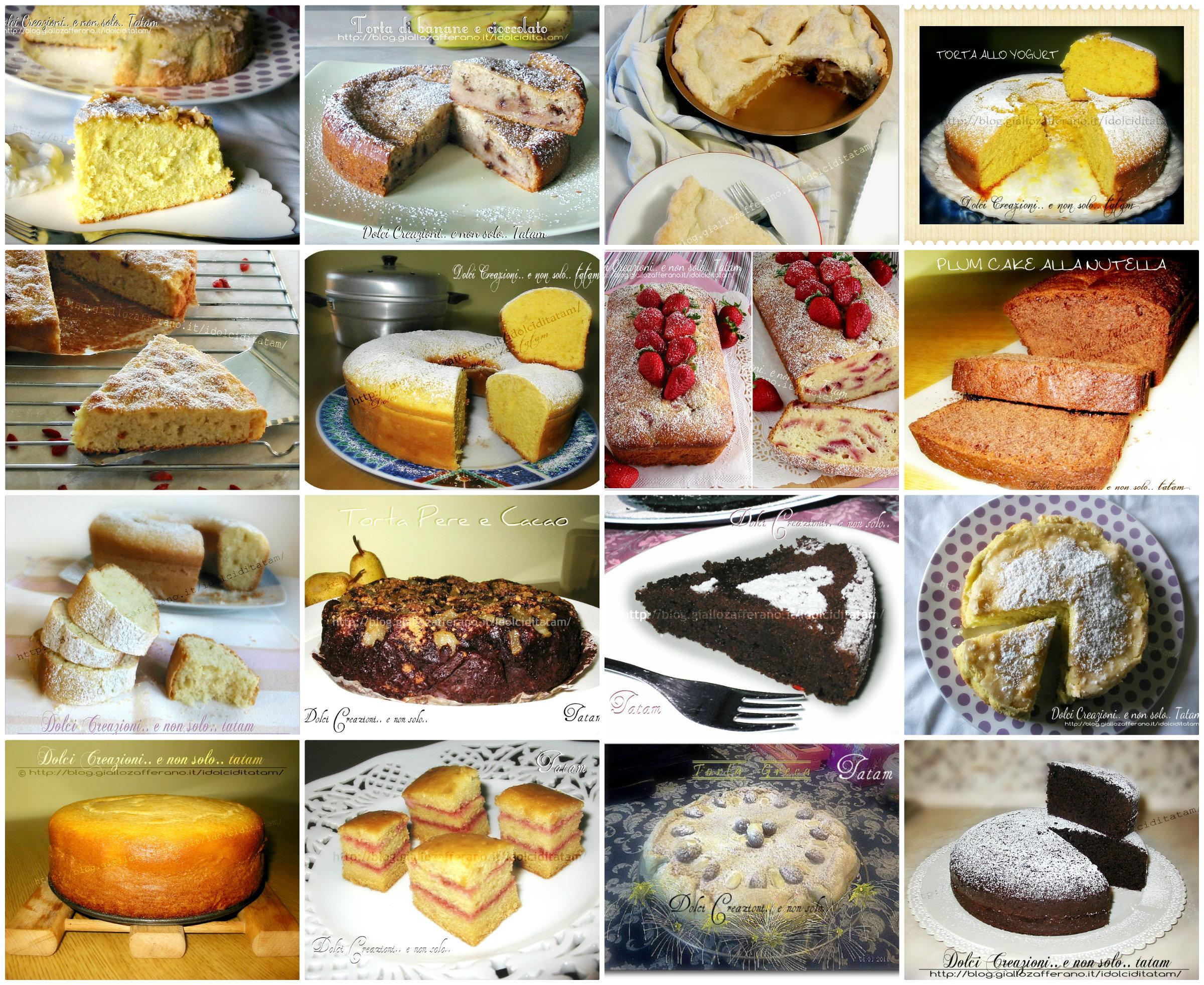 Raccolta Ricette di Torte per colazione e merenda - prima parte