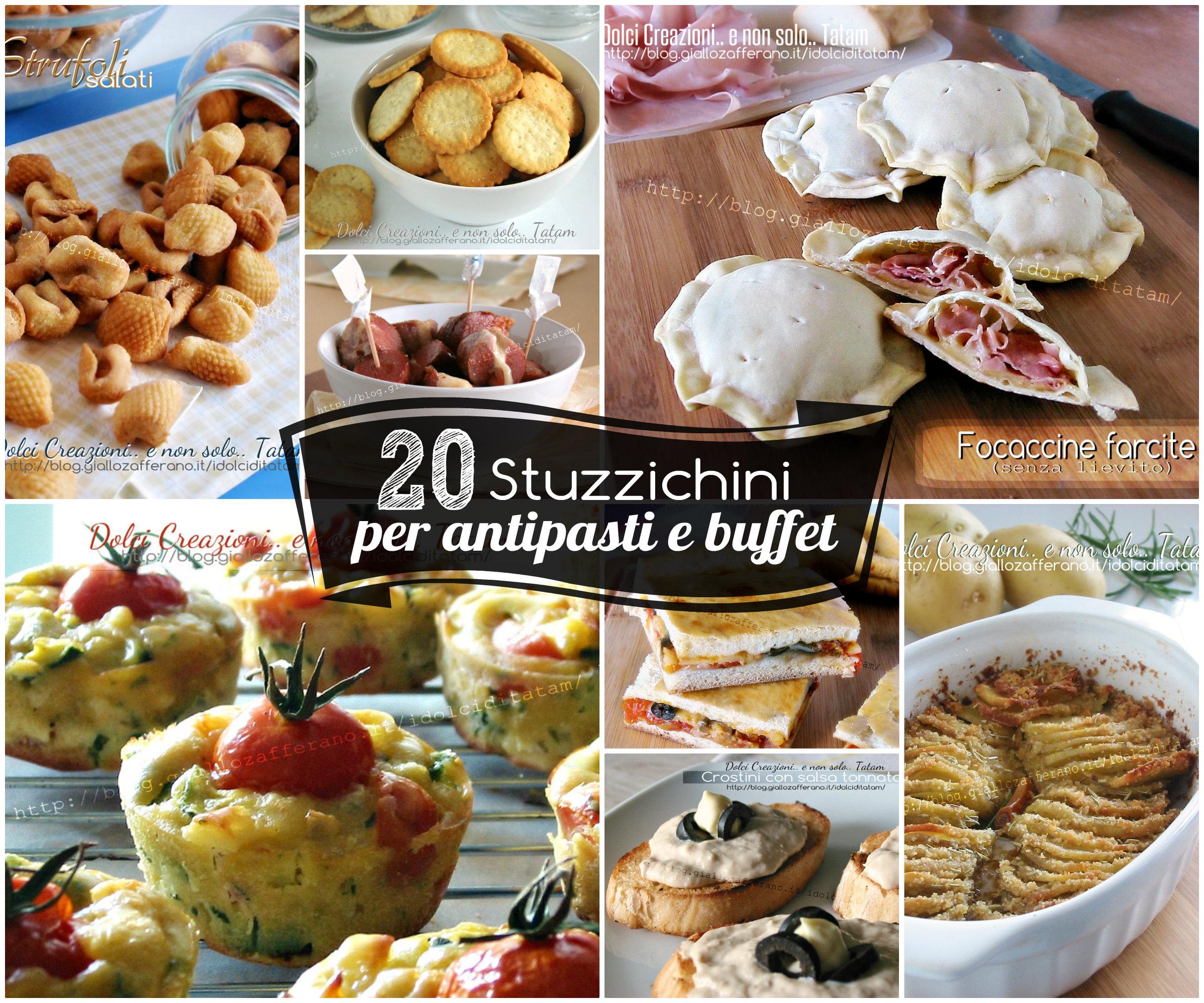 20 Stuzzichini per antipasti e buffet