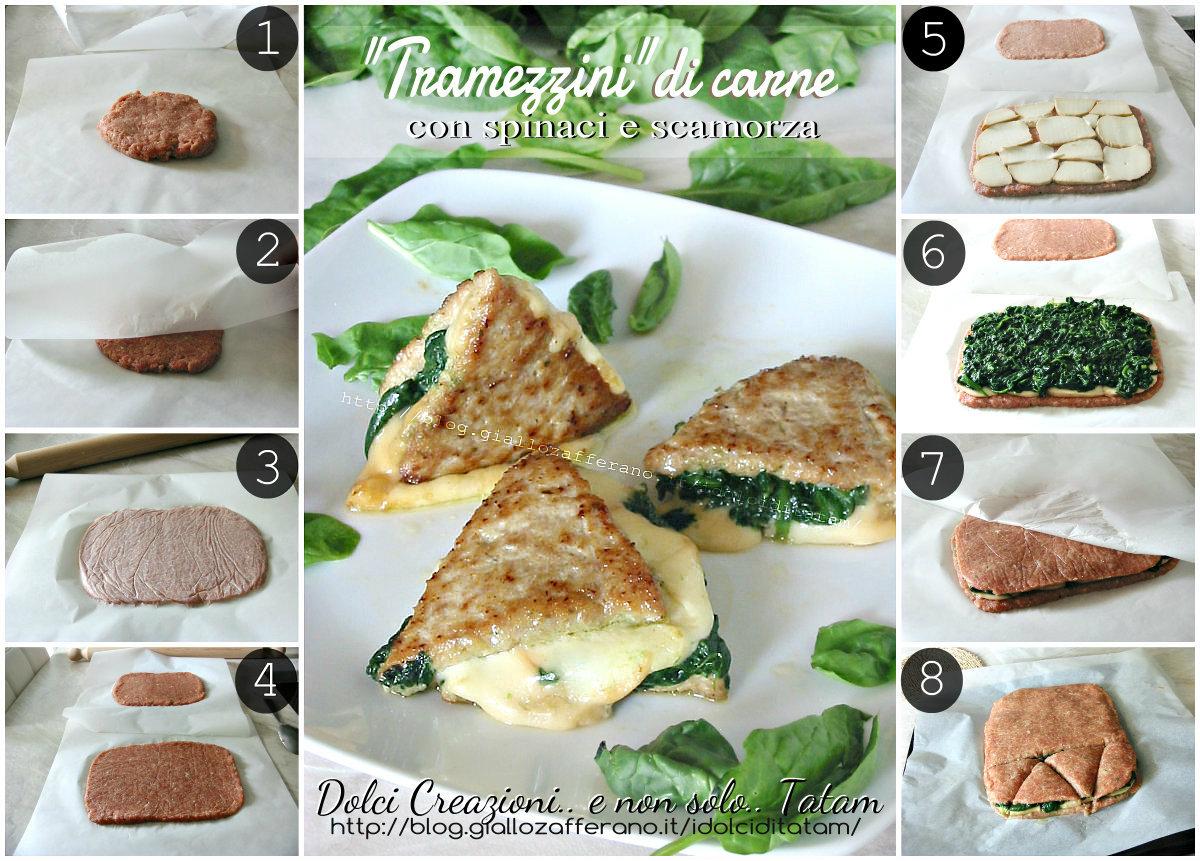 Tramezzini di carne con scamorza e spinaci 1a